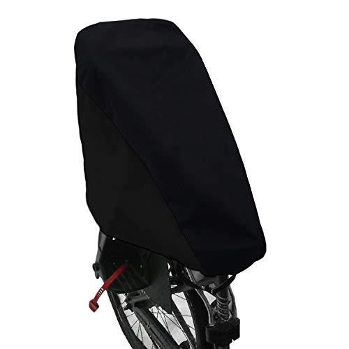 MadeForRain Praktischer, wasserdichter 2in1 Kombi-Regenschutz für Fahrradkindersitz und Sattel CityFrog 2in1 - Tiefschwarz
