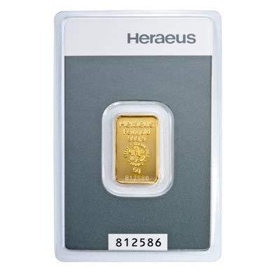 5 Gramm Kinebar Goldbarren Heraeus im Blister LBMA-Zertifiziert NEU