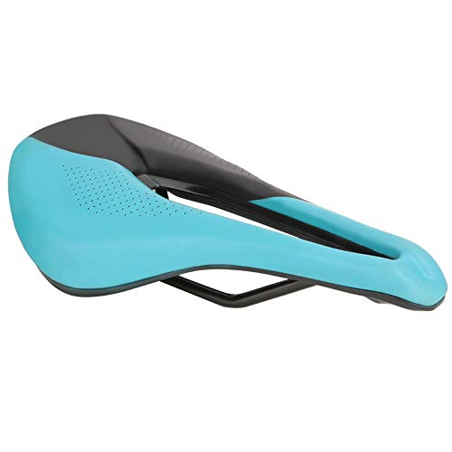 Yagosodee Sillín de Bicicleta de Montaña Cojín Suave para Bicicleta Asiento Transpirable Hueco Accesorio de Repuesto para Ciclismo Azul