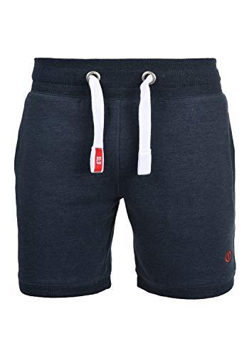 !Solid BennShorts Herren Sweatshorts Kurze Hose Jogginghose Mit Fleece-Innenseite Und Kordel Regular Fit, Größe:XL, Farbe:Insignia Blue Melange (8991)