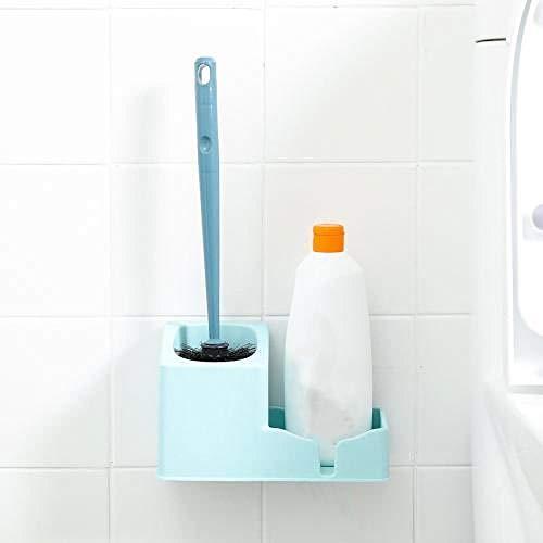 Hangen hoogwaardige siliconen toiletborstel en houder - WC-borstelgarnituur WC-borstels Free Punch WC-borstel met lange greep Geen dode hoek WC-borstelhouder wandafzuiging