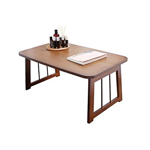 Aeow, klaptafel, vouwbaar, bureau, laptoptafel, bed, luier, tafel, eenvoudige studetafel, kleine tafel, koffietafel, kleur houtkleur, afmeting: 60 cm, 70 cm, 80 cm