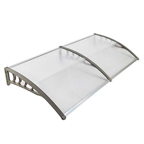 Window Awning Door Canopy, Modern Polycarbonate Front Door Canopy, Patio Awning Canopy Window Door Cover for Rain Snow Sunlight Protection Hollow Sheet (40