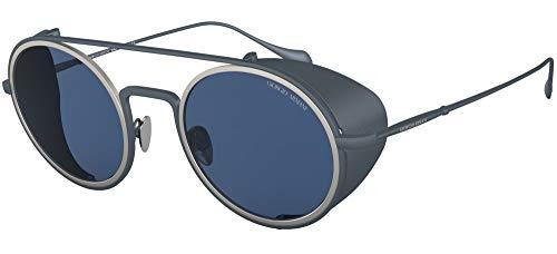 Armani 0AR6098 Gafas, MATTE BLUE/BLUE, 50 para Hombre