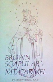 Brown scapular of Our Lady of Mt. Carmel