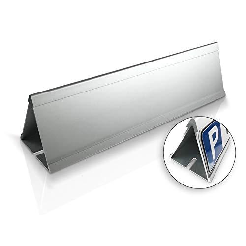 Betriebsausstattung24® Parkplatzbegrenzer für unsere 52,0 x 11,0cm Parkplatzschilder | Aluminium mit Einschubnut | Parkplatzbegrenzung für Ihren Parkplatz & Stellplatz oder Kunden & Besucher