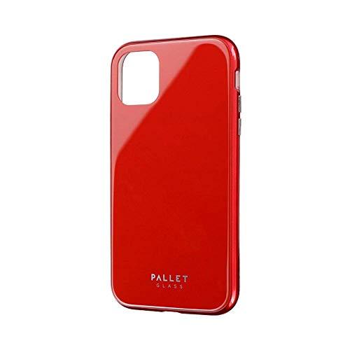 LEPLUS(ルプラス) iPhone 11 ガラスハイブリッドケース SHELL GLASS COLOR レッド