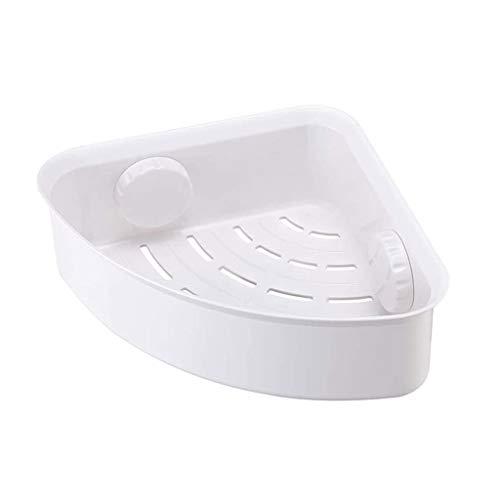 SCDZS Estante de ducha de esquina de succión para baño, cesta de almacenamiento de pared organizador para champú, estante de ducha de plástico para cocina y baño