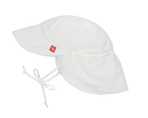 Lässig Niños con cordón UV Flap Hat - Blanco, 6-18 meses