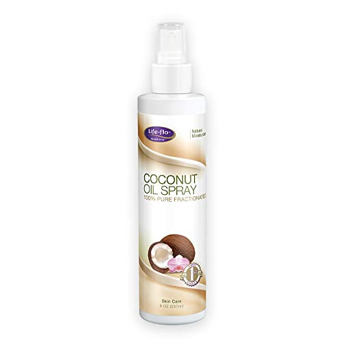 Lifeflo Coconut Oil Spray 100% Pure and Fractionated   Light FastAbsorbing Moisturizer for Dry Skin and Hair   8oz