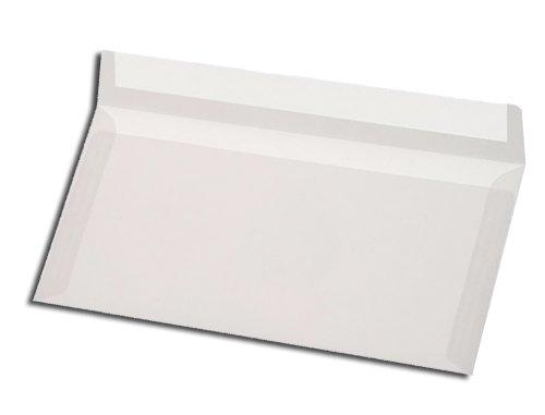 Briefumschläge, DIN lang, transparent, Haftklebestreifen, 500 Stück
