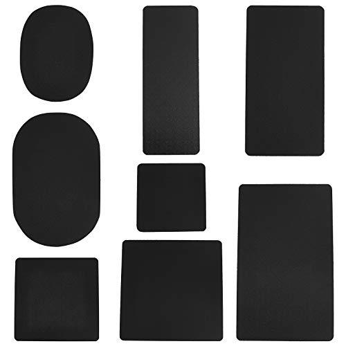 PandaHall Moldeador de base de bolso, 8 estilos de plástico negro, rectángulo/cuadrado/ovalado para bolso de mano, bolso de mano, bolso de mano, 8 piezas/juego