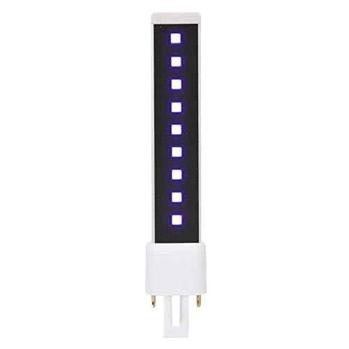 365 + 405nm Double Source de Lumière 9W Nail Gel Durcissement Séchage Tube de Lumière Lampe de Remplacement Ampoule pour Ongle et Ongle, Professionnel Gels de Durcissement
