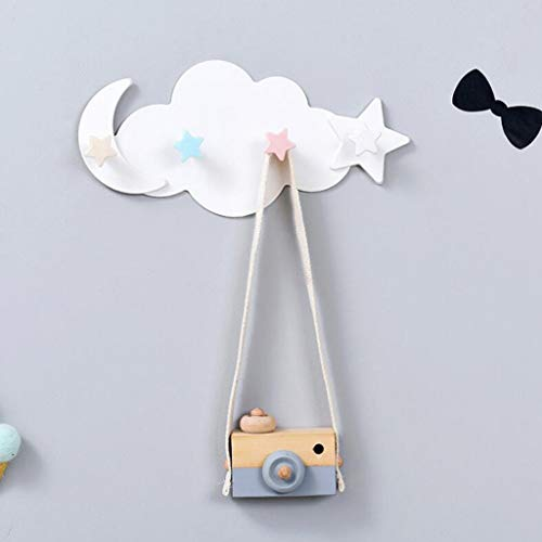 Wffo Creative - Gancho de Pared para baño, diseño de Nube, Transparente y Hermoso, Resistente y Duradero