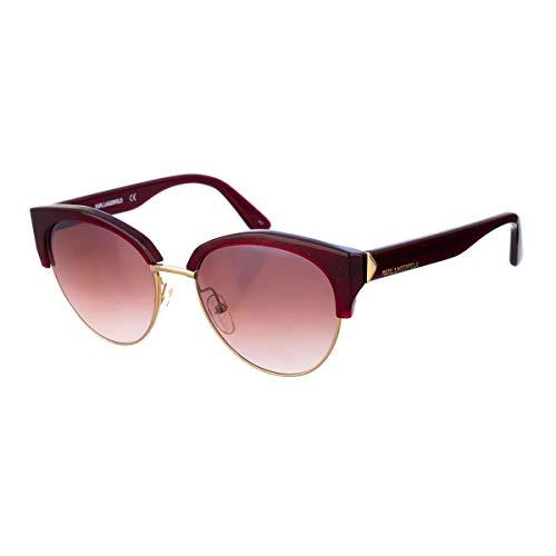 Karl Lagerfeld KL270S Metall-Sonnenbrille Bordeaux Glitter Unisex Erwachsene Mehrfarbig, Standard