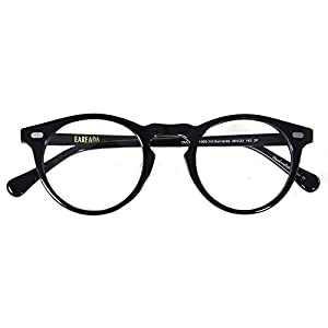 Eareada Vintage Round Glasses Clear Lens Thick Round Rim Acetate Eyeglasses For Men