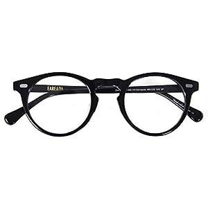 Eareada Vintage Round Glasses Clear Lens Thick Round Rim Acetate Eyeglasses For Men