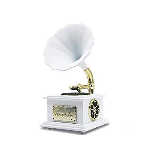 Hejok Altavoz de Cuerno de latón Altavoz Bluetooth clásico