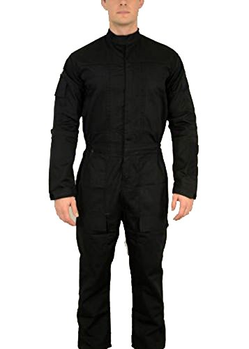 TIE Jumpsuit Star Wars Pilot Flightsuit Uniform Kostüm - Schwarz - Medium