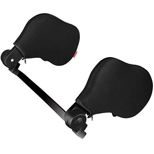 Echoice Auto Kopfstütze Auto Kissen Auto Nackenstütze Autositz Kopfstütze Kissen Unterstützung auf beiden Seiten Nackenkissen mit hohem elastischen Nylon geeignet für Erwachsene und Kinder - Schwarz