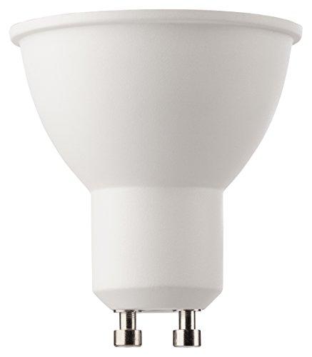 MÜLLER-LICHT 400281 A+, LED Reflektorlampe, 345 lm, 2700 K, Plastik, 5 W, GU10, Weiß, 5 x 5 x 5.5 cm