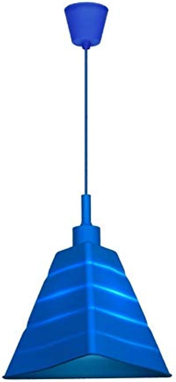 Pendelleuchten Hnge,E27 Dachboden Silikon Dekorativer Kronleuchter Faltbar Unregelmig Trapezoid Kinderzimmer Shop Deckenleuchte, Blau
