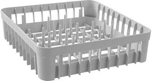 Hendi Cesta de Lavavajillas para Vasos - con 40 Pivotes de Soporte - 400 x 400 x (H)110 mm