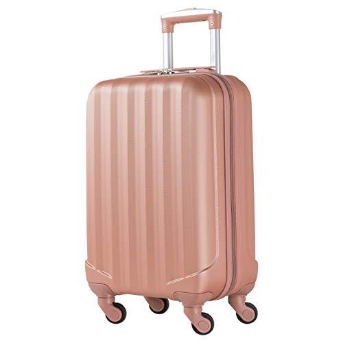 Maletas Flight Knight para Delta, United & SkyWest, ultraligeras con 4 ruedas, maletas rígidas de plástico ABS, equipaje de mano aprobado para 48 aerolíneas Inc American Airlines y Southwest