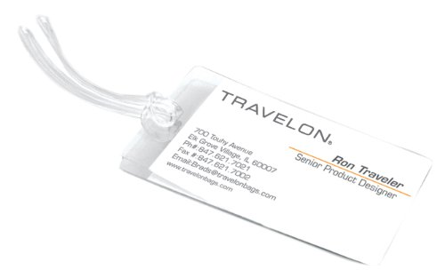 Travelon Luggage Set Of 4 Self-Laminating Tags, Clear, Small