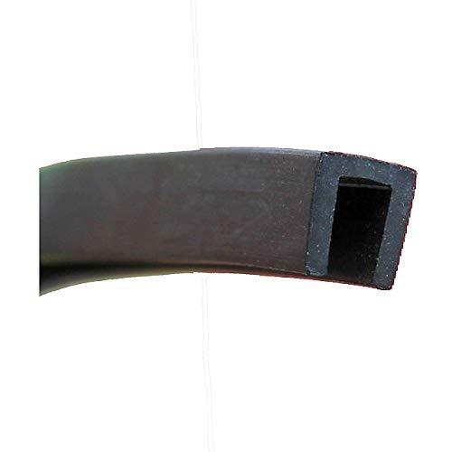 EUTRAS Kantenschutz 1941 Fassungsprofil FP3006 Kantenschutz Dichtungsgummi-Spaltmaß 4,0 mm, Schwarz, 3 m