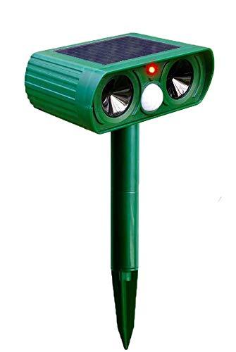 Katzenschreck für Garten,Wasserdicht Solarbetriebener Marderschreck, Katzenschreck Ultraschall Für Draußen Zaun Garten Katzen,Vögel,Hunde (Deckungsgröße: 2425 Quadratfuß)