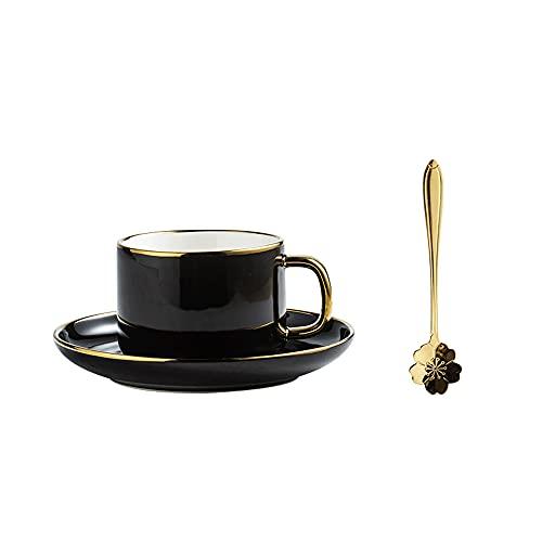 WQDS Tazas de Porcelana apilables para Capuchino con platillos, para Bebidas de café Especiales, Capuchino, Latte, Americano y té, Juego de Tazas y...