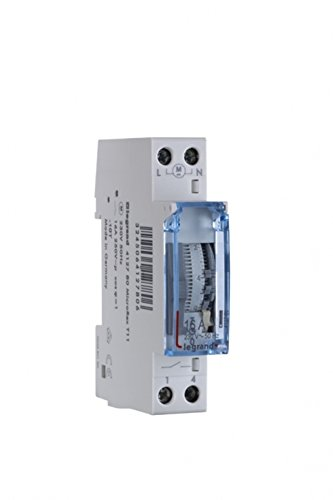 Preisvergleich Produktbild Legrand,  Zeitschaltuhr MicroRex T11,  analog mit 24 Stunden-Programm (Reiheneinbau-Zeitschaltuhr für Hutschiene,  1-modulig),  412780
