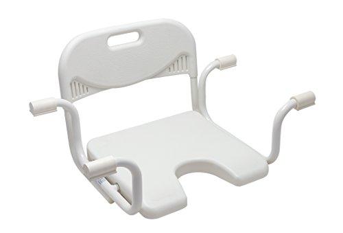Badewannensitz mit Hygieneausschnitt mit Rückenlehne