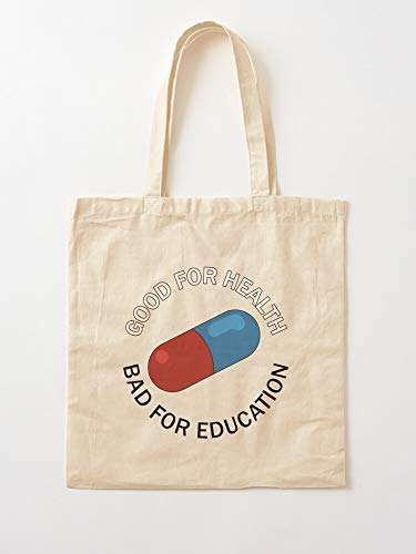 Capsule Pill Drugpills Capsules Akira Pillakira Red Drugs Tote Cotton Very Bag | Canvas Grocery Bags Tote Bags with Handles Durable Cotton Shopping Bags