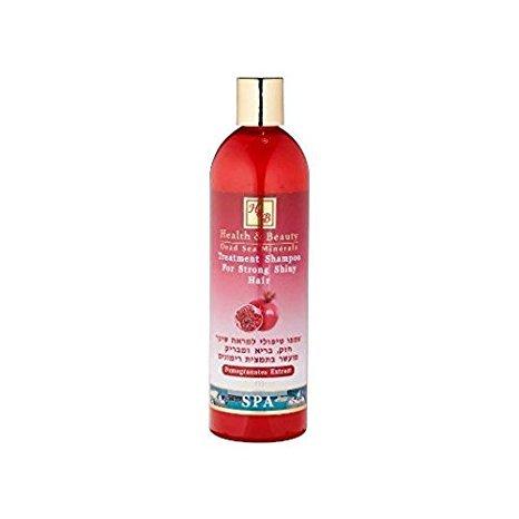 Mer Morte cosmétique - Health and Beauty Dead Sea Minerals - Shampoing traitant à l'extrait de grenade - 400 ml,