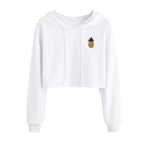 Femme Sweatshirt Pull Sweat Pull-Over Chemisier Sweat à Capuche Pull Tops Blouse Ananas Impression Manches Longues Sweat-Shirt Femme …