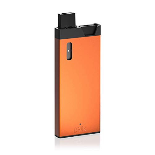 BRIK Portable JUUL Charger for Vaporizer   Extra Pod Flavor Storage   3  Charges   Lifetime Warranty (Orange)