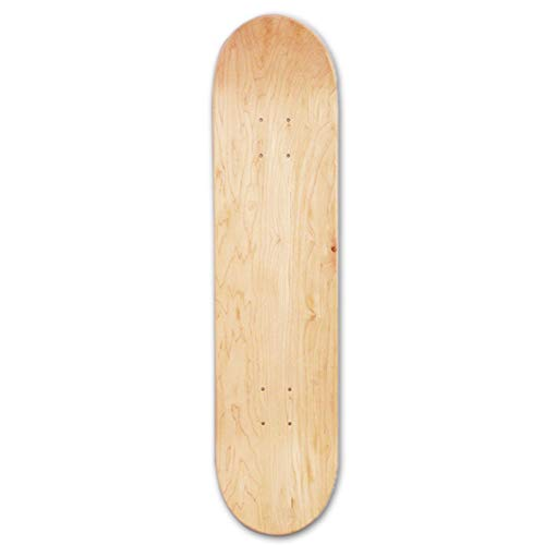 luckycyc Skateboards Deck,8-Layer Maple Blank Double Concave Skateboards Natural Skate Deck Board Skateboards Deck Wood Maple,8inch.