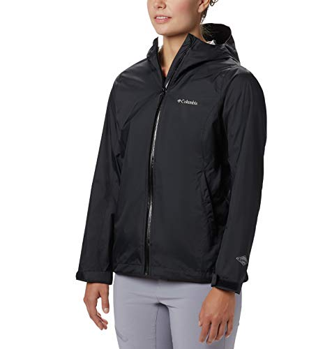 Columbia Women's EvaPOURation Jacket, Waterproof & Breathable,Black,Medium