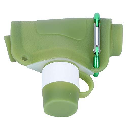 Weikeya Botellas de agua plegables, botella de agua portátil plegable de 24,5 x 13 cm, gel de sílice hecho 500 ml para viajes al aire libre, camping, ciclismo