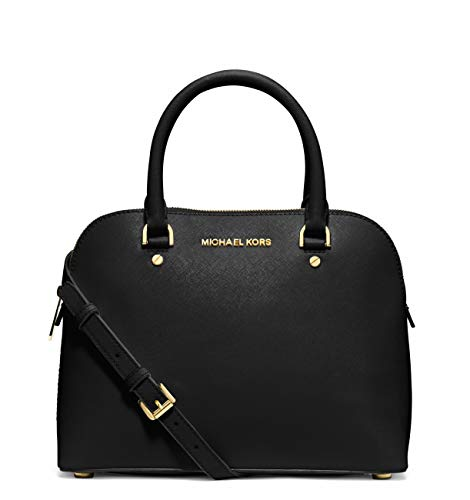 "100% Saffiano Leather with Gold Tone Hardware Zip Around Closure; Four Protective Feet Exterior: Full Length / Height Slip Pocket in Back of Bag Interior: Back Slip Pocket, Two Front Slip Pockets 11.75""W X 9""H X 4.5""D; Adjustable Strap: 20.5""-24.5""; ..."