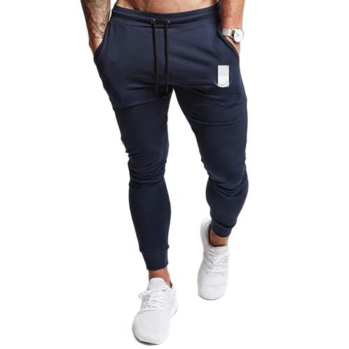 N\P Pantalones deportivos para hombre con pantalones deportivos para gimnasios, pantalones delgados