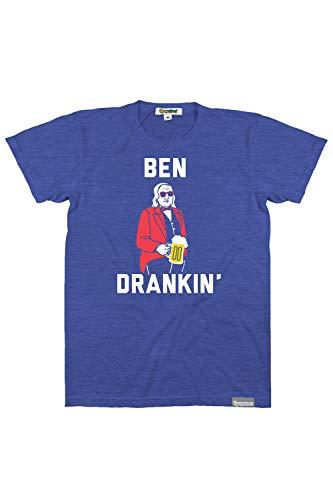 Funny USA Men's Graphic Tshirt Sizes - Guy's Ben Drankin' Tshirt Size Large