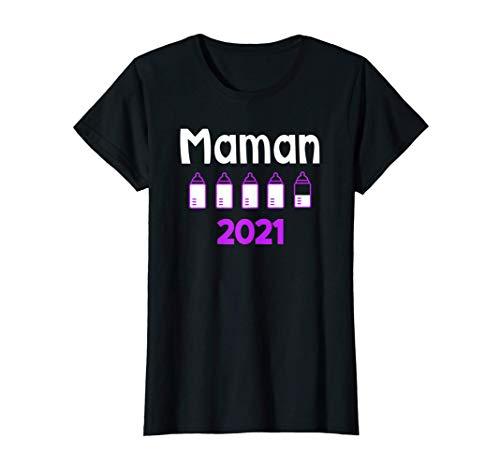 Femme Maman 2021 Enceinte Grossesse Cadeau Future maman T-Shirt