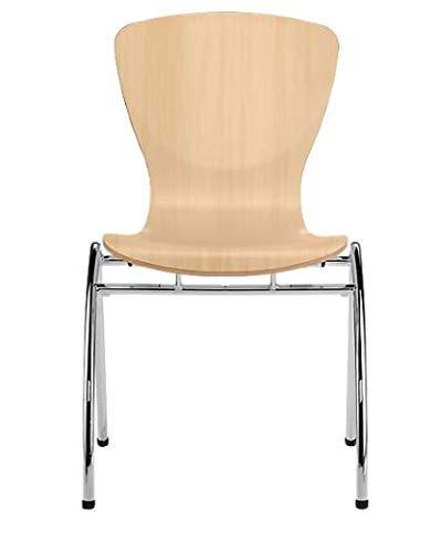 Nowy Styl Group Stuhl Bingo, ohne Armlehnen, ohne Sitzkissen, stapelbar, Holzschale aus Buche