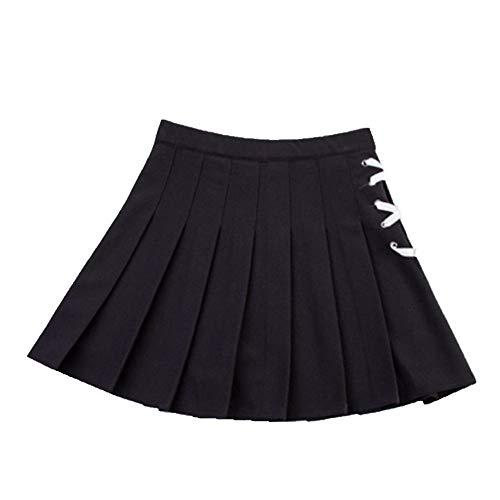 N\P Las mujeres plisadas falda de color sólido de verano dama una línea mini faldas de cintura alta chic femenino faldas cortas falda marinero