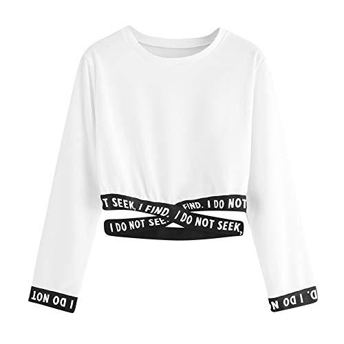 Sudaderas Mujer Tumblr Cortas Chica Adolescente Niña - I DO Not Seek Camiseta Manga Larga Tops - Kawaii Deportivo Modernas Ropa Invierno Otoño 2019