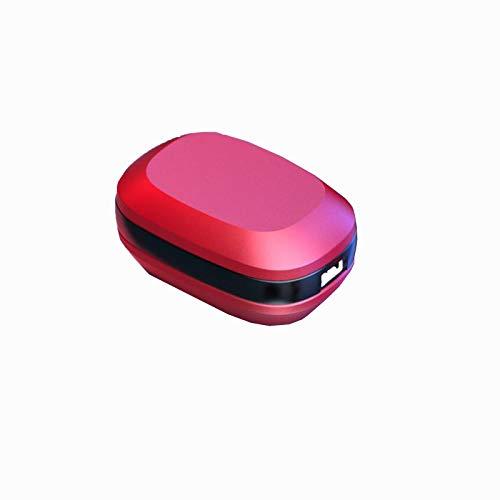 Auriculares inalámbricos Bluetooth 5.0, huellas dactilares táctiles, IPX7, impermeable, USB-C y caja de carga inalámbrica, adecuados para teléfonos móviles, deportes, exteriores ( Color : Red )