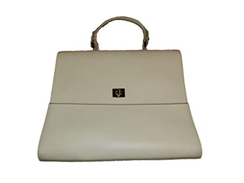 Hugo Boss bolso de cuero amarillo pastel TH M